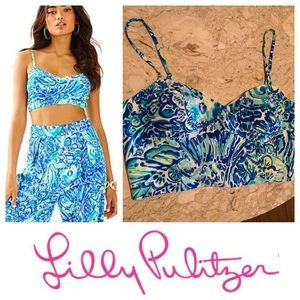 NWT Lilly Pulitzer Lizzy Crop Top. Size 10